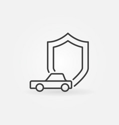 Car and shield icon vector