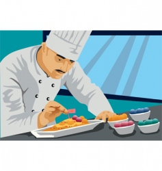 chef cook food vector image