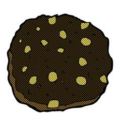 Chocolate chip cookie comic cartoon vector