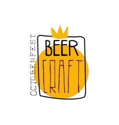 Craft beer square frame logo design template vector