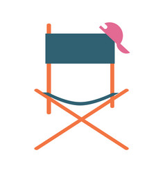 Director movie chair icon vector