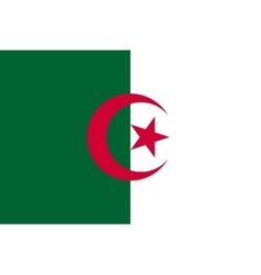 Flag of algeria in correct proportions and colors vector