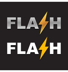 Flash Logo vector image