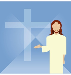 Flat icon jesus2 vector