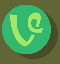 Flat vine icon in thinking cloud vector
