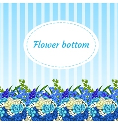 Floral blue background with bouquets vector