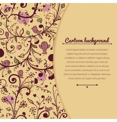 Floral vintage with space for text vector