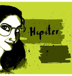 Girl ink hipster vector