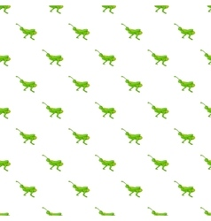 Grasshopper pattern cartoon style vector