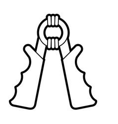 Hand grip vector