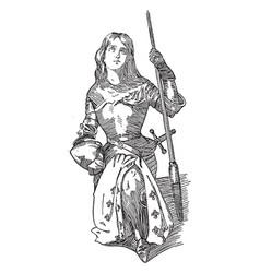 Joan of arc vintage vector