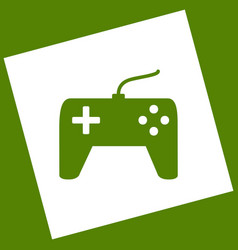 Joystick simple sign white icon obtained vector
