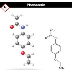 Phenacetin structural chemical formula vector image vector image