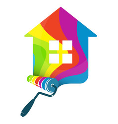 roller for painting house vector image vector image