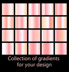 rose gold gradient collection collection of pink vector image vector image