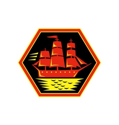 sailing ship or clipper icon vector image