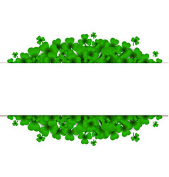 Saint patricks day background with clover vector