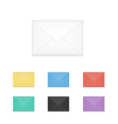 set of isolated closed colored white vector image