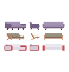 Set of sofas vector image vector image