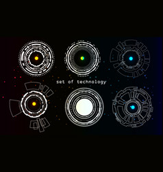 Set of technology and colorful stars on an vector