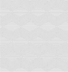 Slim gray triangle spirals forming cubes vector image vector image