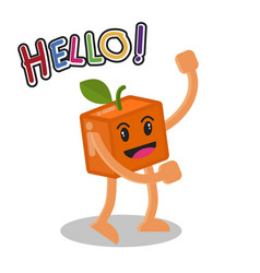 Smiling orange fruit cartoon mascot character vector