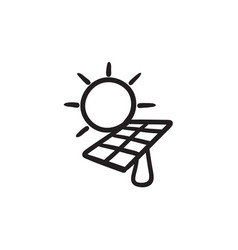 Solar energy sketch icon vector