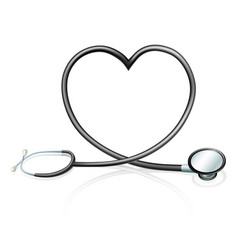 stethoscope heart concept vector image vector image