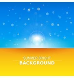 Sun rays sunbeams background vector image