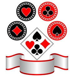 Symbols of playing cards vector