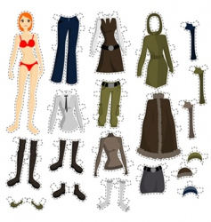 wear to doll vector image vector image