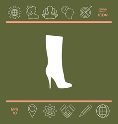 women shoes icon the modern silhouette menu item vector image vector image