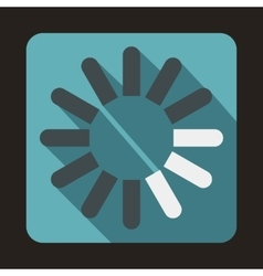 Loading circle icon flat style vector