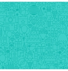 Party mint line tile pattern vector