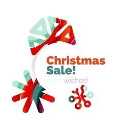 Geometric christmas sale or promotion ad banner vector