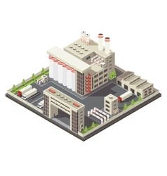 Factory territory isometric vector