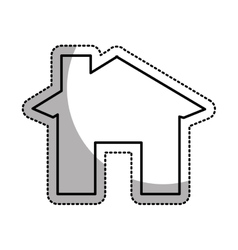 House esterior isolated icon vector