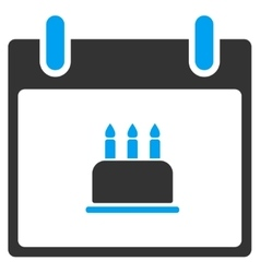 Birthday cake calendar day toolbar icon vector