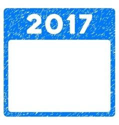 2017 year calendar template grainy texture icon vector