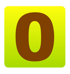 Number 0 sign design template element vector