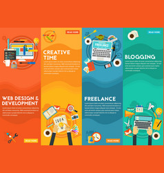 Webdesign development blogging freeance and vector