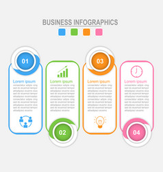Four options infographic business concept vector