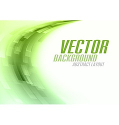 Background curve stripes green white vector