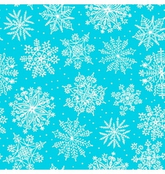 Hand drawn snowflakes seamless pattern vector