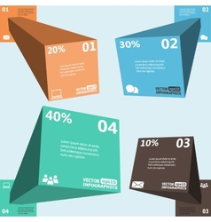 Modern 3d infographics for web banners mobile vector image