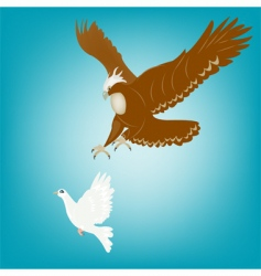 Eagle and dove vector