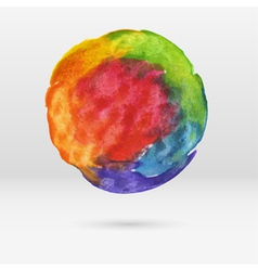 Watercolor circle vector