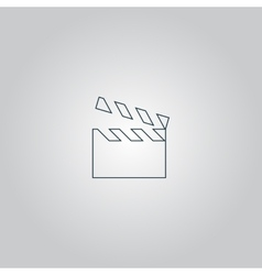 Movie film icon vector