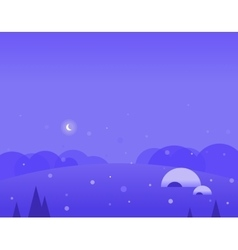 Wallpaper landscape of winter hills igloo and vector