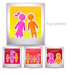 Colorful family photo vector